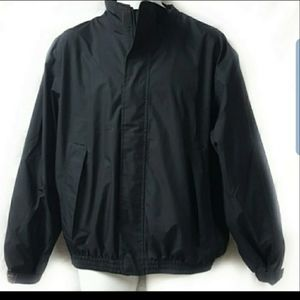 J Crew  Black Windbreaker Jacket Size Medium